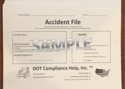 Accident File DOT File Exterior
