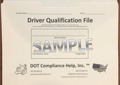 Driver Qualification DOT File Exterior