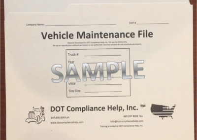 Vehicle Maintenance DOT File Exterior